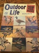 Vintage Outdoor Life Magazine Oct 1941mint Condition Jack O'connor Article