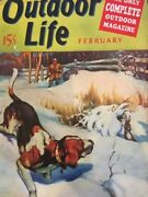 Vintage Outdoor Life Magazine Feb 1940mint Condition With Jack O'connor Article