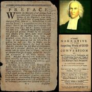 Rare 1738 Jonathan Edwards And039surprising Work Of Godand039 Revival And039leafand039 - To Frame