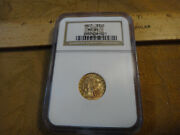 1927 Us Gold 2.5 Dollar Incused Indian Coin Graded Ngc Ms64 - Free Sandh Usa