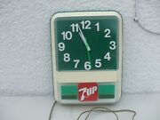 Vintage Working 7up Lighted Electric Wall Clock Very Nice