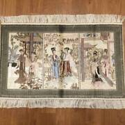 Yilong 2'x3.1' 800lines Red Mansion Rug Handmade Silk Tapestry Artwork P026h