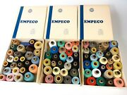 3 Vintage Empeco O.n.t. Thread Spool Lot Various Size Color See Photos W Box