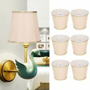 6pcs Cloth Lamp Light Shades Lampshades For E14 Wall Lamp Chandelier Supplies