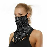 Unisex Men Women Face Scarf Bandana Ear Loops Face Balaclava Neck Gaiters Wrap