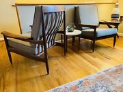 Pair Of Brazilian Rosewood Vintage Lounge Chairs For Lifa