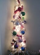 Victoria's Secret Pink Christmas Tree Ornaments Dog Set Of 25 Store Display