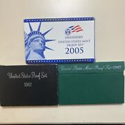 1982/1997/2005-s Us Mint Proof Sets - Wow - Look- 21 Deep Cameo Proof Coins