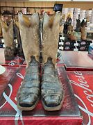 Lucchese Burke Mens Chocolate Giant Alligator M3195.74 Square Toe Cowboy Boot