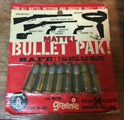 1958 Mattel Bullet Pak With 8 Bullets Sealed - Fanner 50 Winchester Buckle Gun