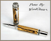 Pen Pens Handmade Exotic Bocote Wood Rollerball Or Fountain Art See Video 1126