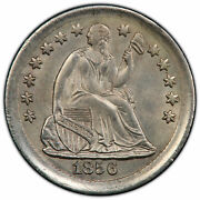 1856-p Silver Liberty Seated Half Dime Pcgs Graded Cleaned Unc Detail 41489748