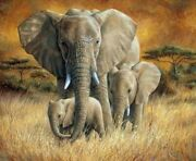 Painting By Numbers Elephant Animal Painting Hand Made Gift Home Decor Wall Art