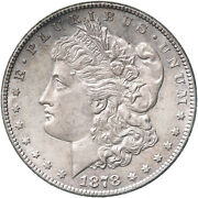 1878 S Morgan Silver Dollar About Uncirculated Au