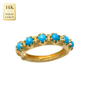 14k Real Solid Gold Turquoise Ear Cuff Ring No Piercing Kids Ear Cuff Wrap