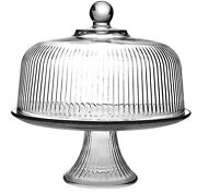 Multifunctional Glass Cake Stand And Dome Cake Dome Punch Bowl Salad Bowl