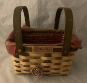 Longaberger 2006 Bee 25th Anniversary Basket Combo Liner Tie On Pp 10 Signatures