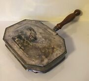 Antique 19th C. Old Sheffield Silver Plate On Copper Cheese Serving Dish And Cover