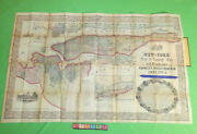 Original Magnus Map Of New York And Environs Large Map Including Brooklyn