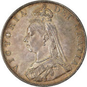 [905534] Coin, Great Britain, Victoria, Double Florin, 1887, Ms64, Silver