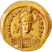 [905519] Coin, Marcian, Solidus, 450-457, Constantinople, Au50-53, Gold