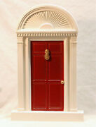 Byers Choice Red Door With Pineapple Knock Accessory - New - Free Shipping