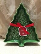Hallmark Christmas Tree Ceramic Dish Serving Tray 2019 Candy Nuts Cookies