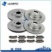 Front Rear Ceramic Pads And Rotors Brake For 2009 2010 2011 2012-2014 Acura Tl