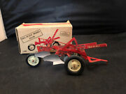 Vintage Tru Scale Toy 2 Bottom Plow With Box