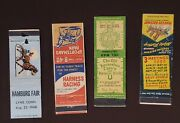 Lot Of 4 1940s-1960s Horse Racing Matchbook Covers Yonkers Sportsmanand039s Del Mar