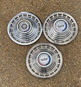 Used Oem Ford Set Of 3 14 Hubcaps Wheel Covers 1963 Galaxie 500 2824