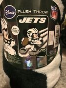 Nfl New York Jets Mickey Mouse Plush Throw Blanket 46andrdquox60andrdquo