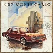 Chevrolet Monte Carlo Large Format Usa Car Sales Brochure 1982 4082 July And03981