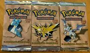 1st Edition Fossil Booster Packs New Factory Sealed Free Ship Usa Only