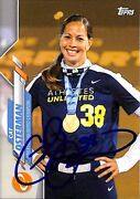 Cat Osterman Signed 2020 Topps Baseball Card Athletes Unlimited Usa And Longhorns