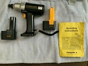 Panasonic Ey574 Variable Speed Cordless Impact Driver Wrench W/ Batteries