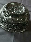 Antique Islamic Mughal Style Hand Carved Jade Bowl With Embossed Work, 19th C