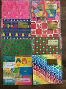 Vintage Hallmark Wrapping Paper Lot 8 Packs New 70and039s Retro Scrapbook Craft Child