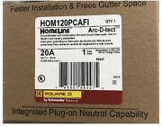 27 Pcs Square D Homeline Hom120pcafi 20a Breaker New.shipped With Ups Groundandnbsp