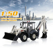 Alloy Excavator Forklift Bulldozer 150 Two-way Backhoe Loader Tractor Toy X9a5