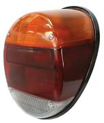 Vw Bug Rear Tail Light Assembly Complete Orange Red White Volkswagen Beetle 1pc