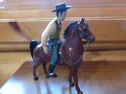 Vintag 1950's Hartland Wyatt Earp Figurine With Horse And Hat No Saddle Or Guns