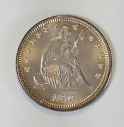1876 25c Seated Liberty Silver Quarter 90 Collectible Numismatic Coin