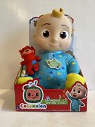 Cocomelon Musical Bedtime Jj Doll With Plush Tummy And Roto Head In Hand Fast Ship