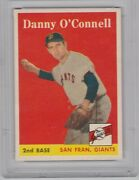 1958 Topps Danny O'connell 166 Psa Nm-mt 8