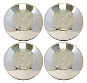 Set Of 4 Chrome Hubcaps Late Vw Beetle 1968-1979 Bus 1971-79 Ghia Type-3 Vanagon
