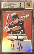 Aaron Judge 2013 Panini Prizm And039d 1/100 Auto Autograph Rookie Card Rc Bgs 9 Mint