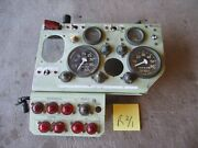 Nice Instrument Panel W/lots Of Gauges And Switches, 24v, Armored Vehicle Military