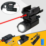Tactical Xp-r5 Led Pistol Flashlight Rail Mount Lamp And Red Dot Laser Sight Combo