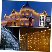 Icicle Lights Outdoor,440 Led Icicle Christmas Lights Outdoor Color Changing
